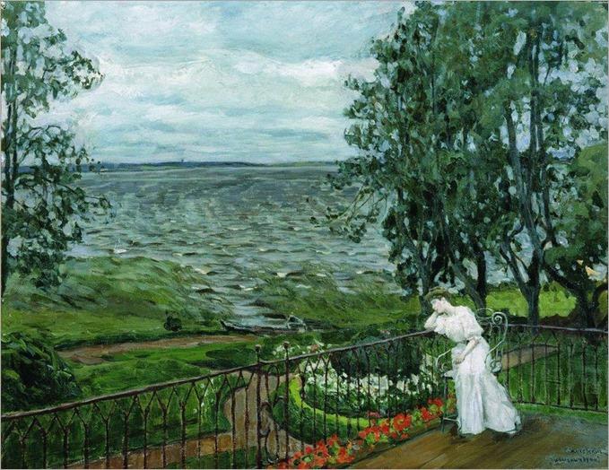 Sad Thoughts - 1908 - Stanislav Zhukovsky (russian painter)