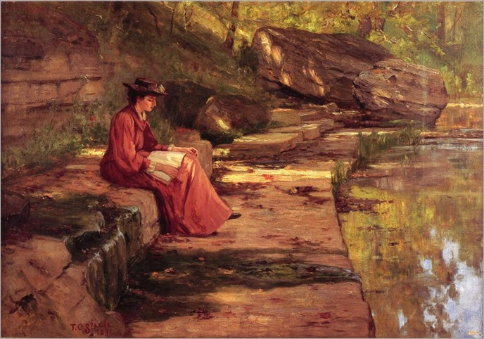 Steele_Theodore_Clement_Daisy_by_the_River