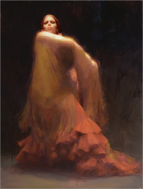 The Golden Shawl - Susan Lyon (american-contemporary artist)