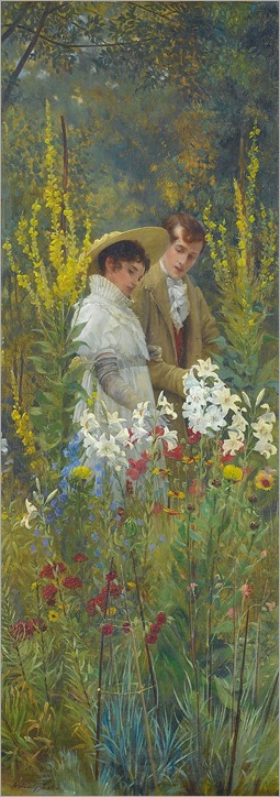 the lover´s walk by Walter Dendy Sadler