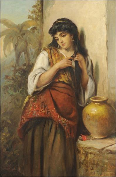 Thomas Kent Pelham (english, ca. 1831-1907)- A Little Maid of Alicante
