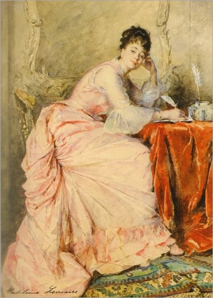 Young Lady in Pink -Madeleine Jeanne Lemaire