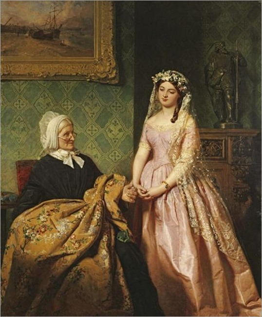 1859o John Faed (Scottish artist, 1819-1902) The Bride