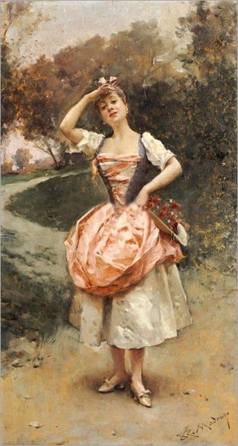 A Country Maid (Raimundo de Madrazo y Garreta