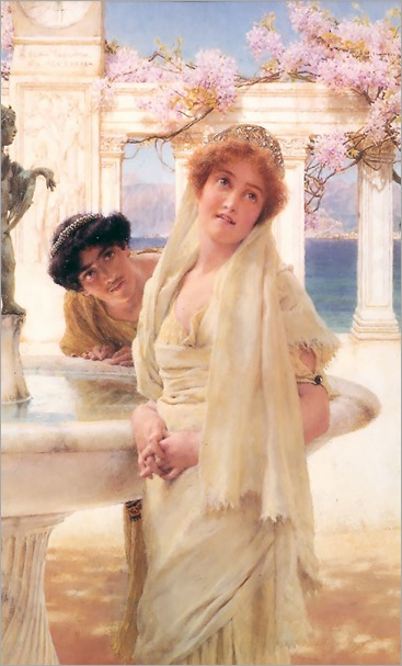 a_difference_of_opinion-Alma Tadema