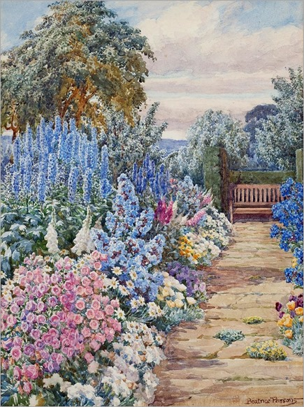 Beatrice Emma Parsons (1869-1955) -A Summer Garden
