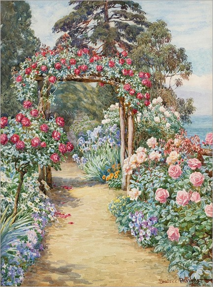 Beatrice Emma Parsons (1869-1955) -The Rose Arbour