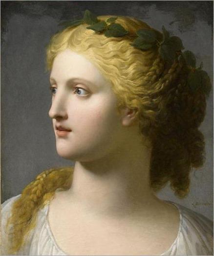 Charles Paul Landon (1760-1826) - Tête de femme couronnée de laurier