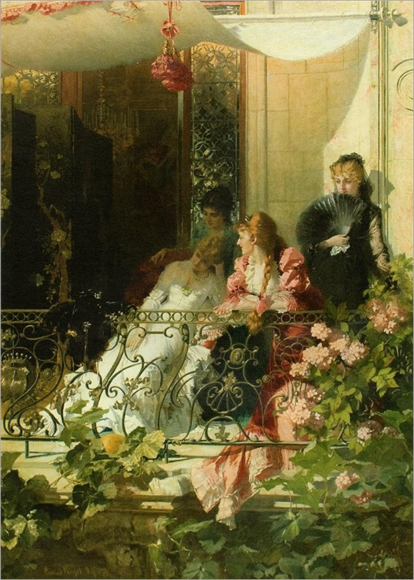Conrad Kiesel_ Ladies on a Balcony
