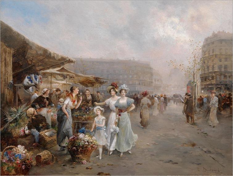 Emil-Barbarini--The-flower-market-in-Paris