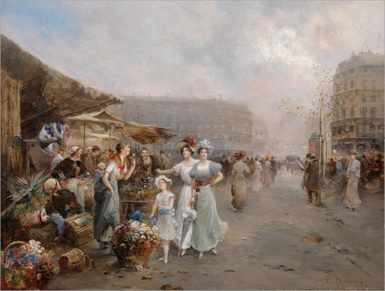 Emil-Barbarini--The-flower-market-in-Paris