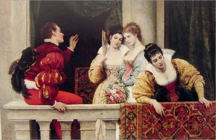 Eugene_de_Blaas_On_the_Balcony