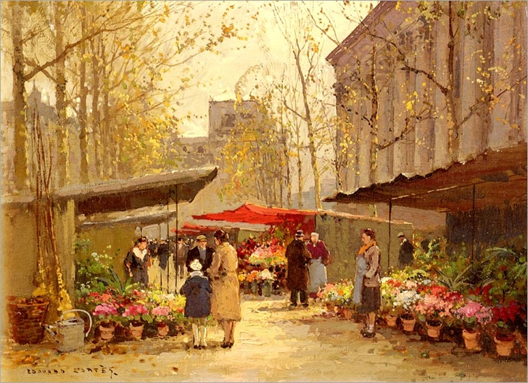 flower-market-at-la-madeleine_Edouard Cortes