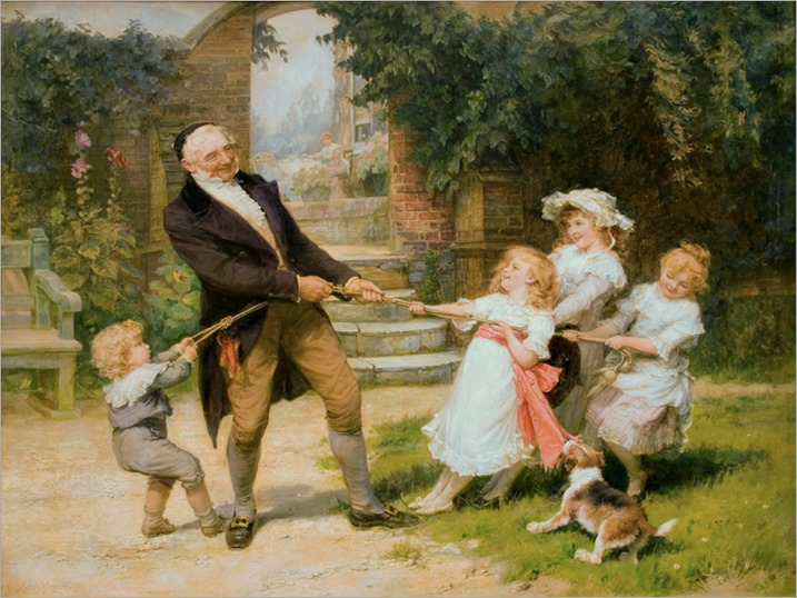 Frederick Morgan (British, 1856-1927) Tug-of-War