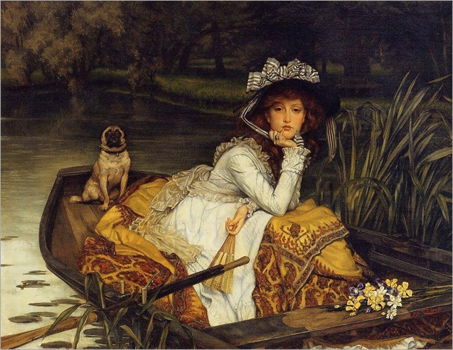 JamesTissot-Young Woman in a Boat