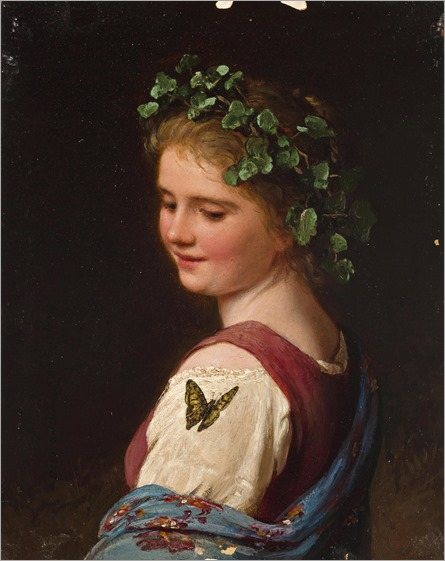 Johann Georg Meyer von Bremen (1813 - 1886) - The butterfly, 1878