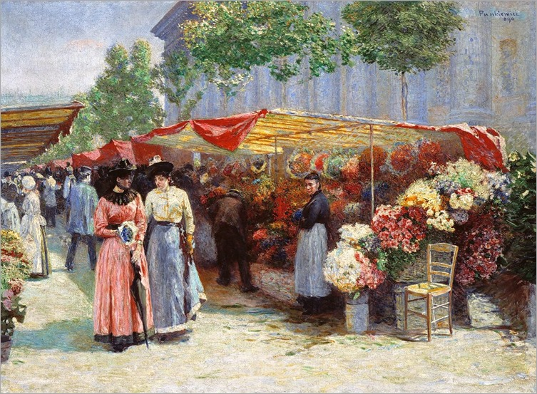 Market for Flowers - Jozef Pankiewicz (polish painter)