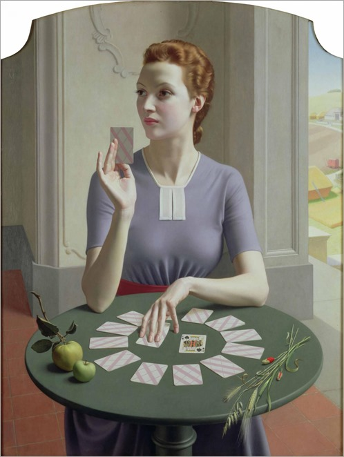 Meredith Frampton _ A Game of Patience, 1937