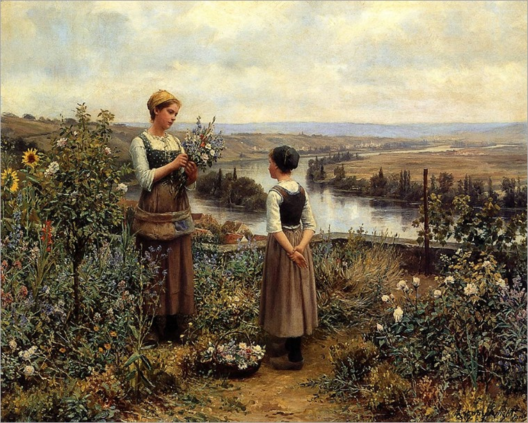 Picking Flowers_ Daniel Ridgway Knight
