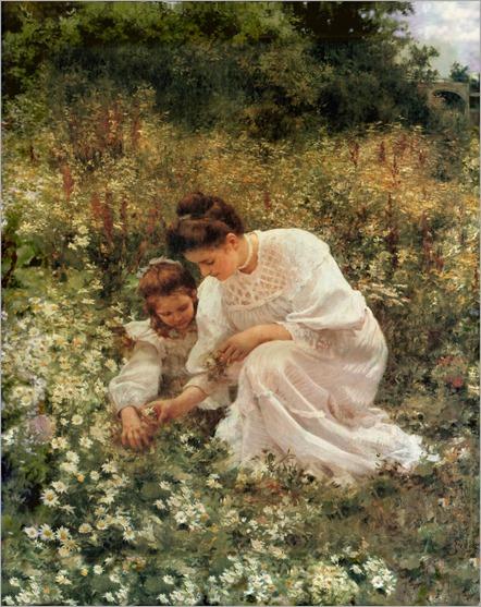 Picking Wild Flowers - 1905 - Hermann Seeger (german painter)