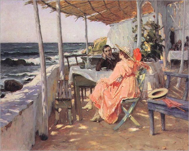 Praia das Macas - 1918- Jose Malhoa (portuguese painter)