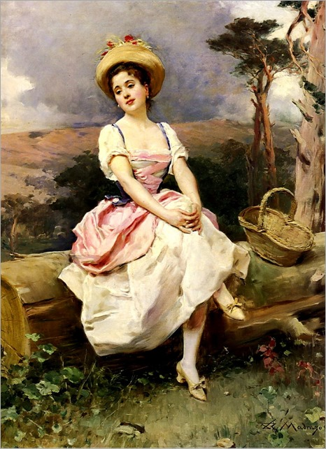 Raimundo de Madrazo y Garreta (spanish, 1841-1920) - A Rest along the Way