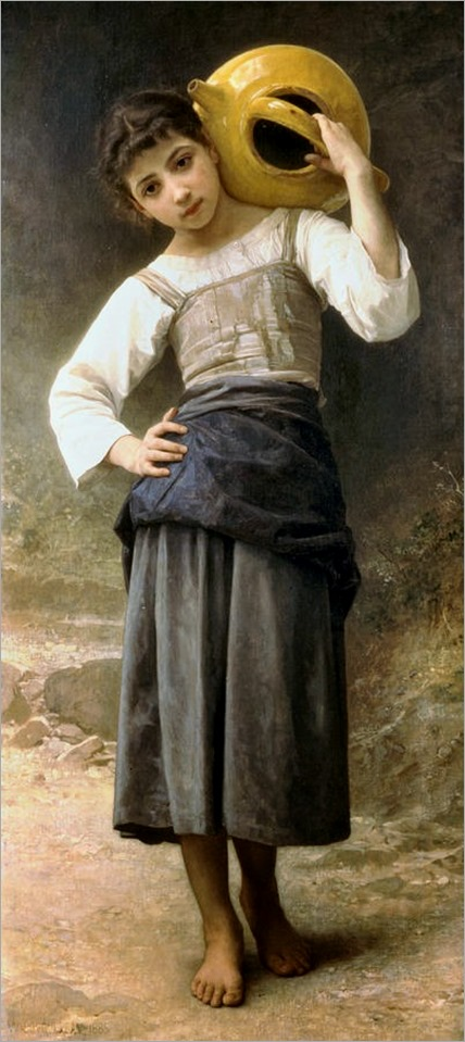 William-Adolphe Bouguereau - Young Girl Going To The Fountain.