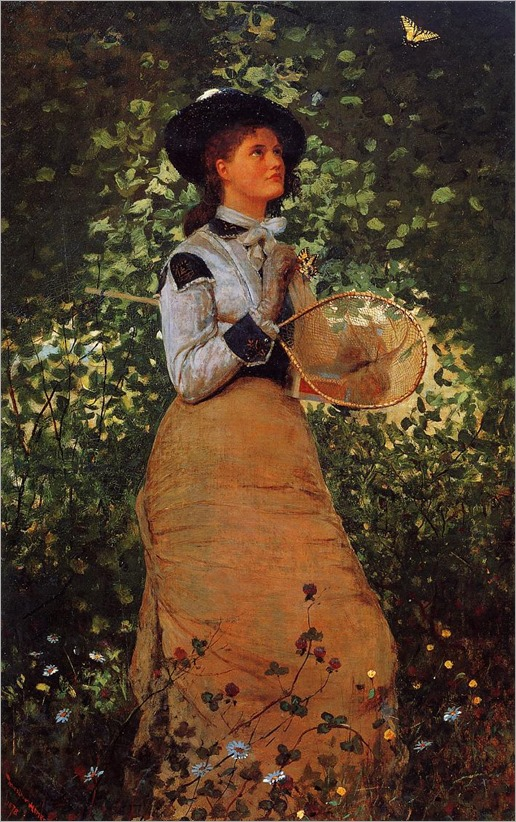 Winslow Homer _ butterfly girl