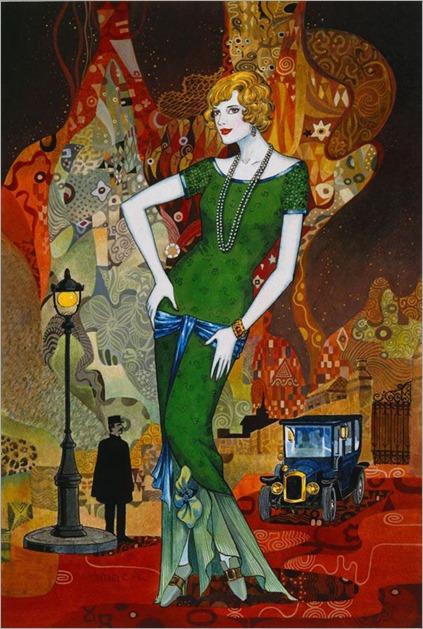 4.Helena Lam - Contemporary Art Déco painter