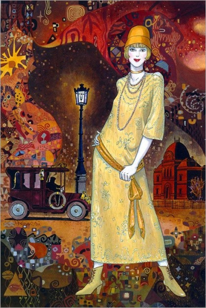 6.Helena Lam - Contemporary Art Déco painter