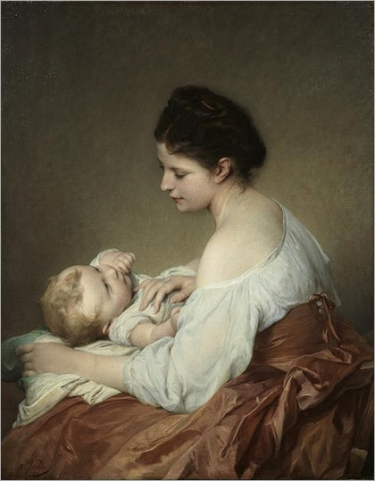 Adolphe Jourdan (french, 1825-1889)_Tendresse maternelle