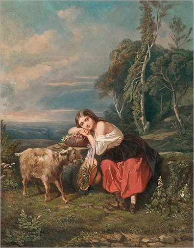 Camille_Joseph_Etienne_ROQUEPLAN_France_1800-1855_THE_SHEPHERD_GIRL
