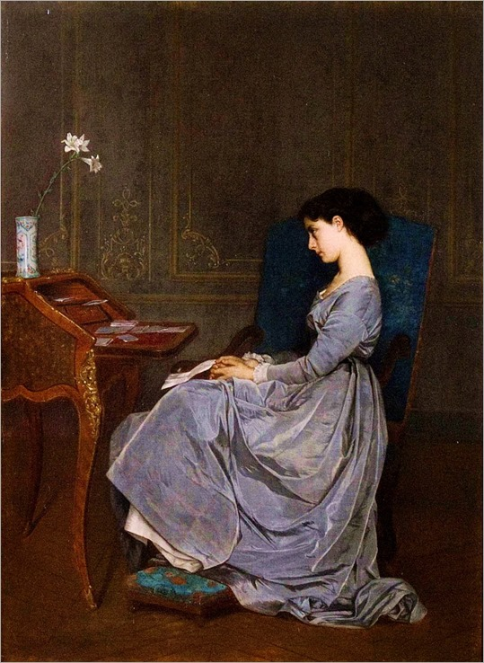 Contemplation (1867). Auguste Toulmouche (French, 1829-1890)