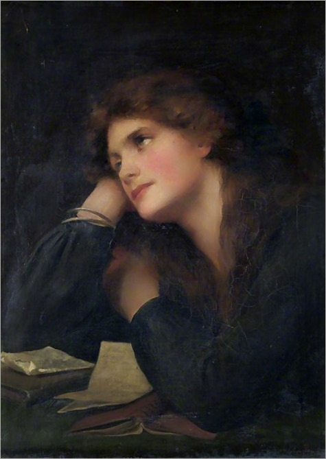 Contemplative Woman (c.1886-1917). Beatrice Offor