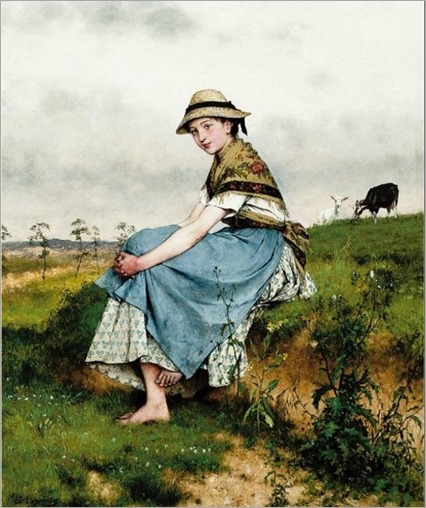 Evariste_Carpentier_(1845-1922)_The_little_goatherd