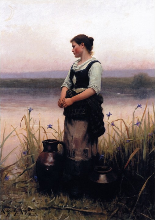 Far Away Thoughts -Daniel Ridgway Knight