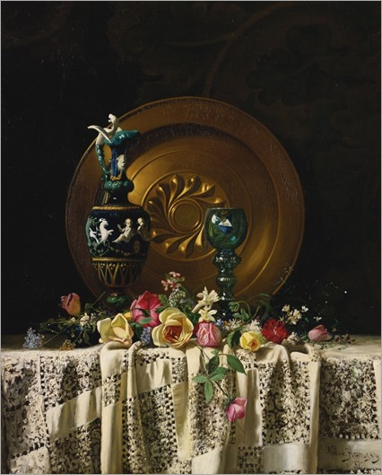 flowers on a table - Milne Ramsey