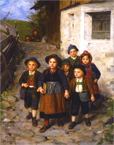 going-to-school-Franz von Defregger