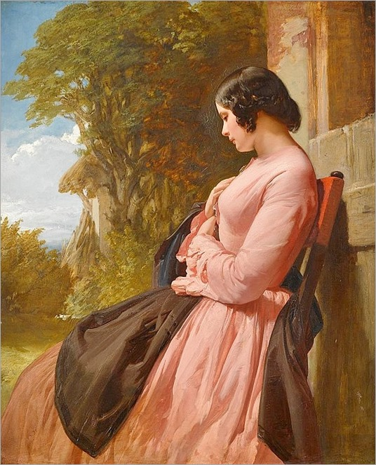 HENRI LE JEUNE (british 1820-1904)-CONTEMPLATION
