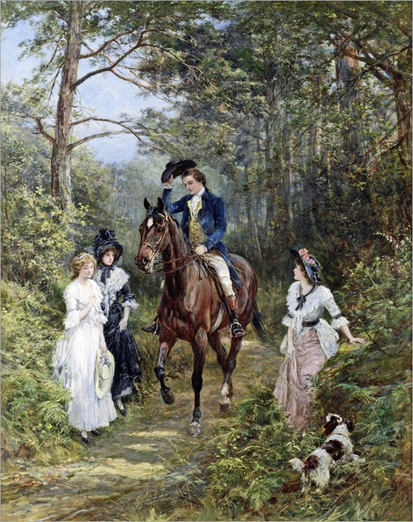 Heywood Hardy - The Meeting in the Forest 1903
