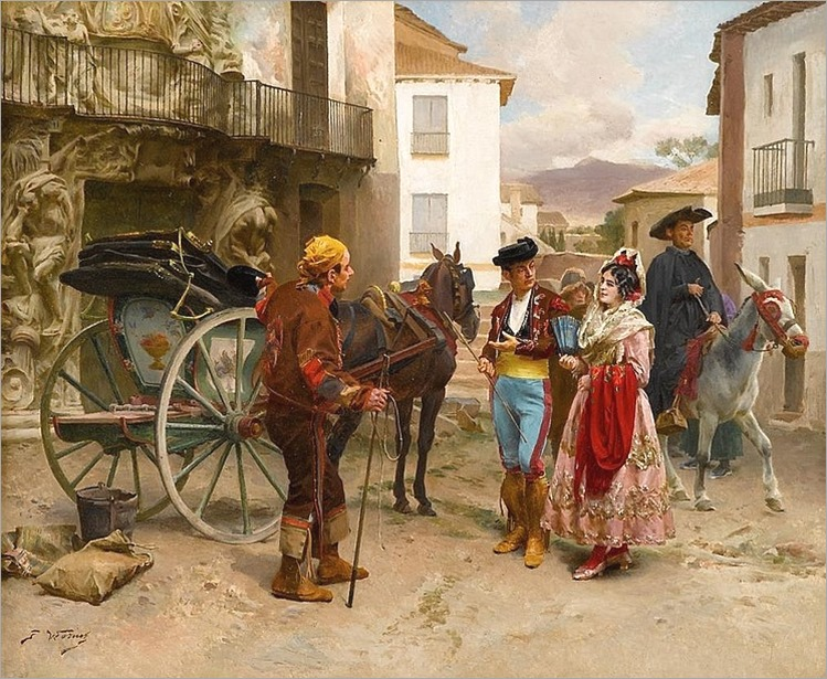 JULES WORMS (french 1832-1914)-THE MORNING OUTING