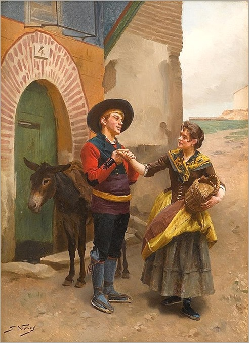 JULES WORMS (french 1832-1914)-THE PROPOSAL