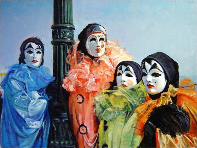 Los Payasos (Carnaval Veneciano)-Marco Ortolan