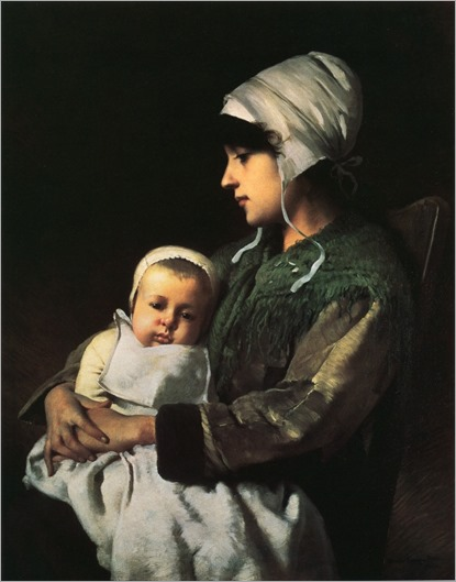 Mother and Child by Charles Sprague Pearce - circa 1880