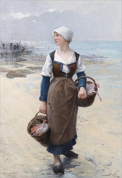 Pierre-Marie Beyle, (French, 1838-1902), Fleur des Greves