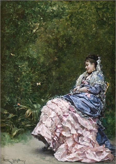 Raimundo-de-Madrazo-y-Garreta-Español-1841-1920Mujer-en-el-jardín-ca.-1880-Museo-de-Arte-de-Ponce.