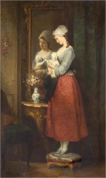 ROBERT JULIUS BEYSCHLAG (1838-1903)-double vanity