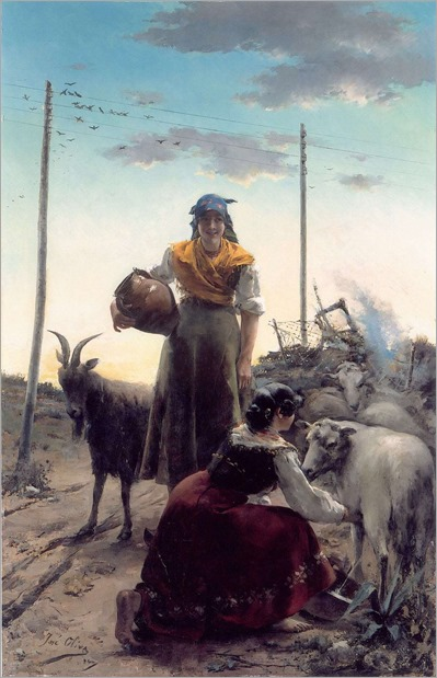 Shepherdess at the roman contryside-Jose Oliva Rodrigo