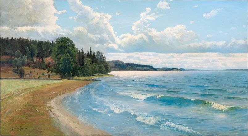 Summer View - Frans Tiger (swedish painter)