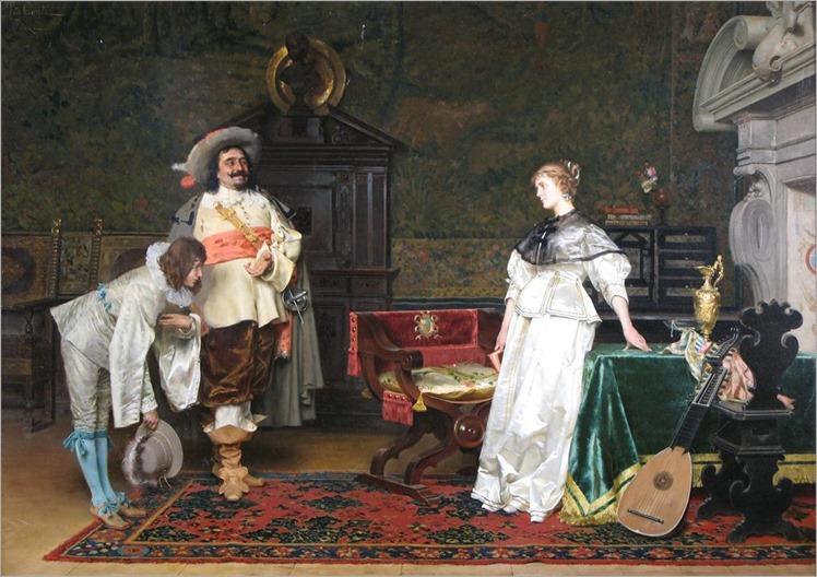 Tito Conti (Italian 1842-1924) The suitor